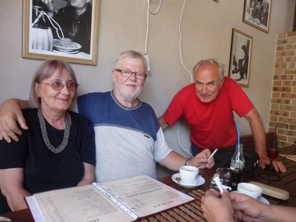 Dana cu Dan Aldea și un admirator din Zalău ing Vasile Remeș