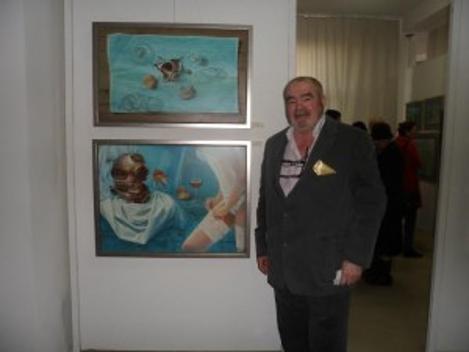 Poemul meu Toamnă la Doimai i-a inspirat lui Florentin Vesa tabloul de jos, cel cu portjartierul…